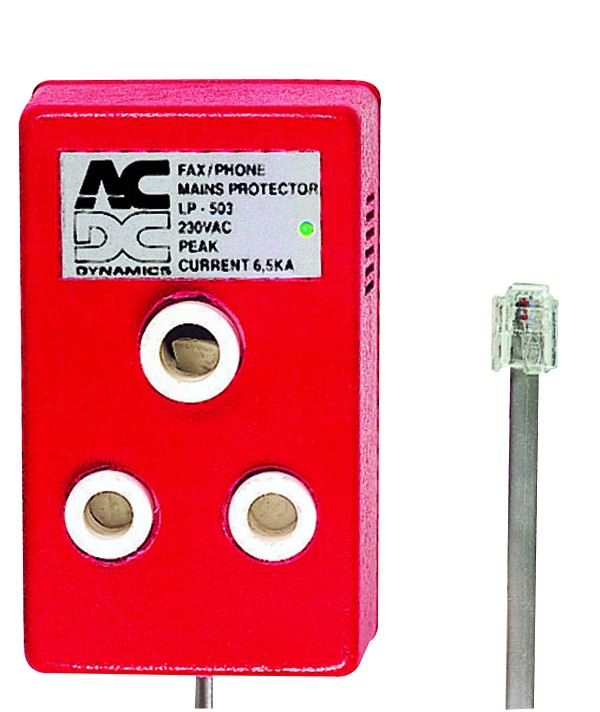 d21893a19832 DEDICATED MAINS PLUG LIGHTNING PROTECTED RED ACDC Plugs and ...