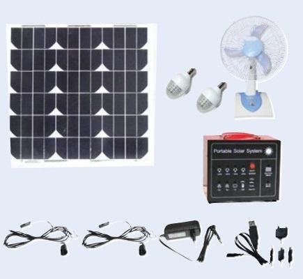 12v 30w Solar Home Light Kit Acdc Solar Dc Power Kits